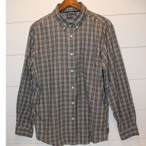 CHAPS Men's Plaid Button-Down Shirt Medium